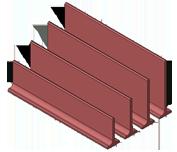 FLOORING SYSTEM: PLASTIC & CAST IRON SLATS, TRIBAR GRIDS